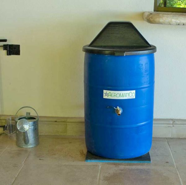 AeromatiCo automatic composter is the best solution for environmentally conscious individuals who want an easy way to compost their food waste. There is no monitoring or turning your compost. Pests are not attracted to your waste nor are there any rotting smells. The AeromatiCo compost bin is a patent pending, fully contained, continuous process unit that simply requires an electrical outlet and water.